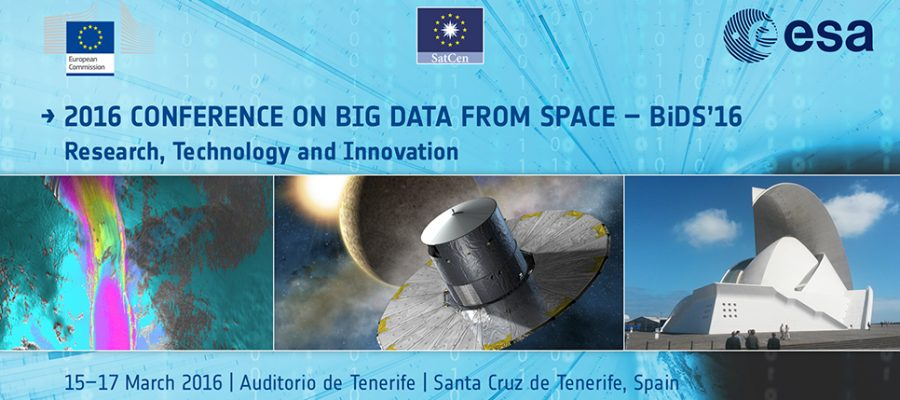"""Big Data from Space (BiDS'16)"", en Santa Cruz de Tenerife"